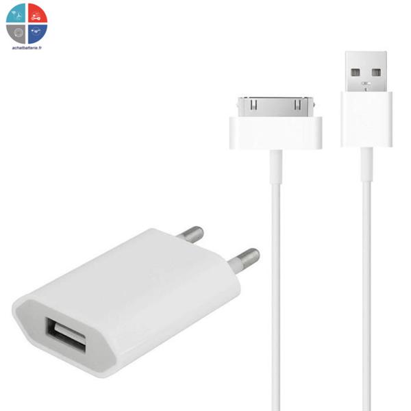 chargeur entr e usb pour iphone 3g 3gs 4 4s cable data origine apple. Black Bedroom Furniture Sets. Home Design Ideas
