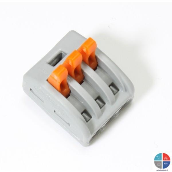 connecteur levier pour 3 fils souples wago. Black Bedroom Furniture Sets. Home Design Ideas