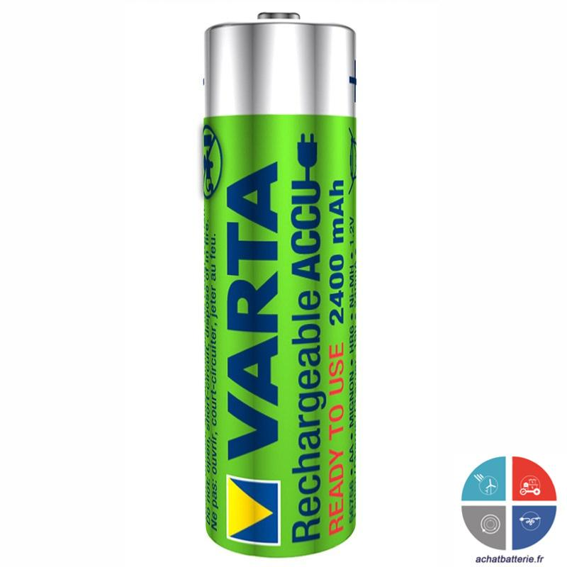 Pile rechargeable pro aa hr6 1 2v 2400 mah varta x4 - Pile rechargeable aa ...