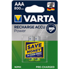 Pile rechargeable HR03 AAA VARTA 800mah 1.2V (x2)