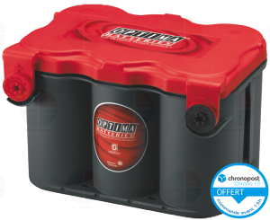 Batterie Optima RTF 4.2 12V 50ah 815A AGM Spirale
