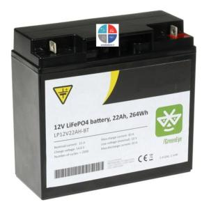 Batterie Lithium LiFePo4 12v 22ah (c20) NP12-22 bluetooth