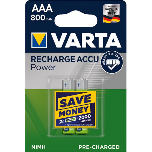 pile rechargeable hr03 aaa varta 800mah 1 2v x2 pile accus pour telephone sans fil. Black Bedroom Furniture Sets. Home Design Ideas