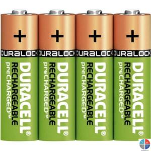 PILE RECHARGEABLE TURBO HR6 1.2V 2500 mAh DURACELL (x4)