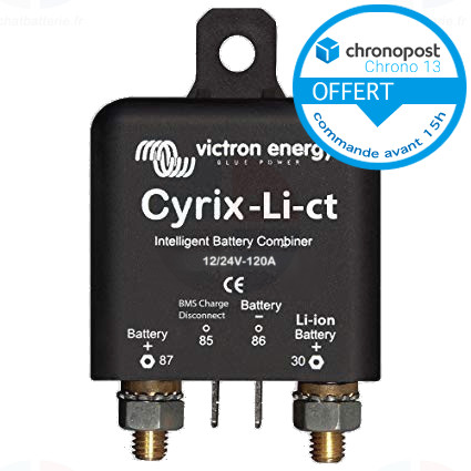 Relais de Charge CYRIX-Li-ct 12/24v 120A Victron batteries lithium CYR010120412