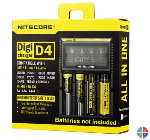 Chargeur AA AAA Nitecore Digital Lithium/Nicd/Nimh 4 accus D4