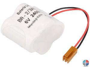 Pack BR2/3A Lithium 6v 2400mah