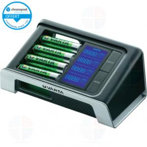 Chargeur rapide Varta Écran LCD Ultra-Fast + 4 accus R6 2400 mAh ReadyToUse