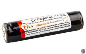 ACCU LITHIUM 1600mAh 3.7V 17650 EAGLETAC avec protection