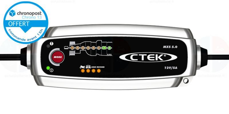 Chargeur CTEK MXS5.0 12v 0.8A /& 5A auto moto pour batteries plombs