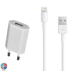 Pack chargeur câble data Lightning + prise pour iPhone 7/7+/6/6+/5/5C/5S/...