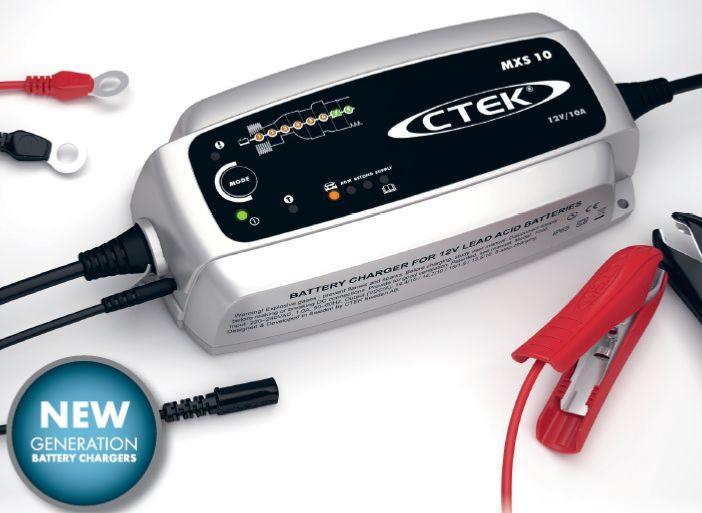 chargeur ctek mxs10 12v 10a pour batteries agm wet gel. Black Bedroom Furniture Sets. Home Design Ideas