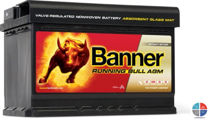 batterie auto 12v 70ah 720a agm banner 57001 start stop. Black Bedroom Furniture Sets. Home Design Ideas