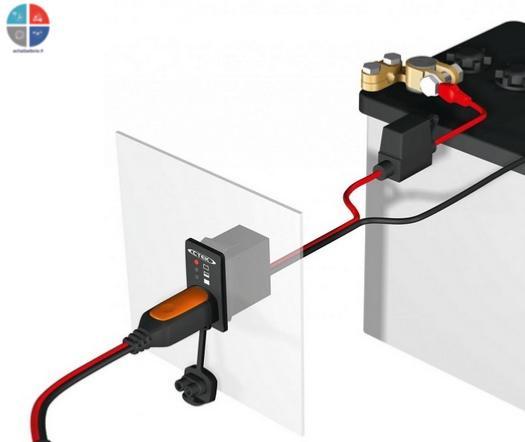 Cable Pour Ctek Avec Indicateur De Charge 224 Fixer Sur Panneau