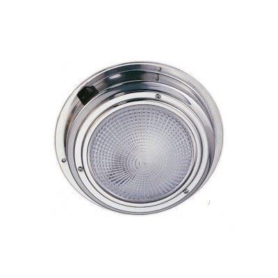 plafonnier inox 20 led blanc 12v diam 140mm avec interrupteur. Black Bedroom Furniture Sets. Home Design Ideas