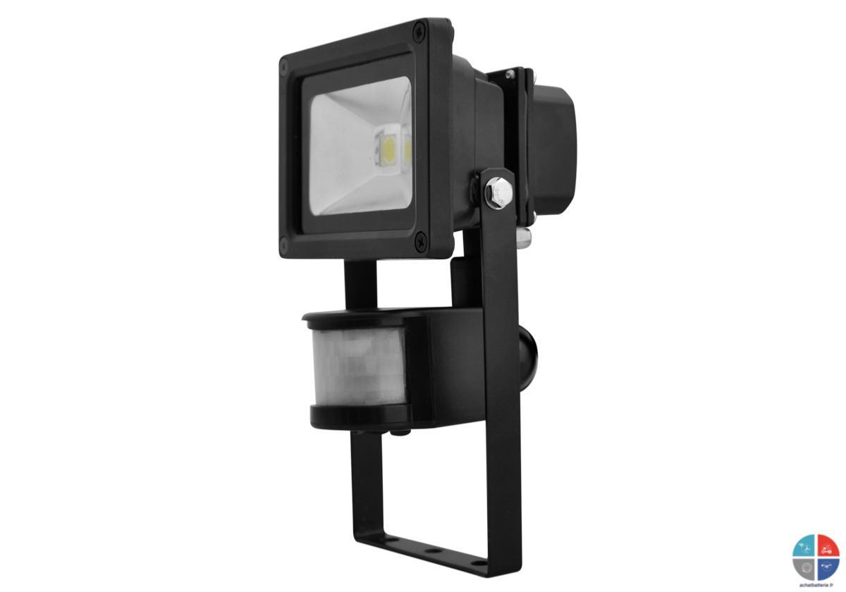 projecteur led 230v 10w 800 lumens avec d tecteur. Black Bedroom Furniture Sets. Home Design Ideas