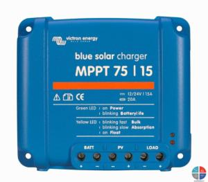 Regulateur MPPT 75/15 12/24v VICTRON L 100 x l 105 x ht 40