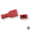 Cosse femelle isolée plate rouge 6.3mm pour 1.5mm²